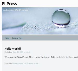 Pi Press Screen capture